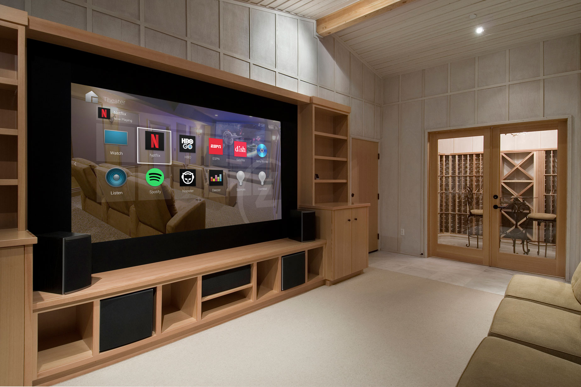 control4 home theatre screen